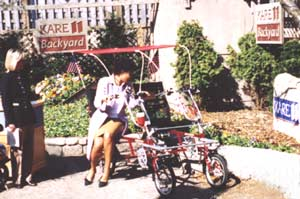 Blackbird Quadribent Bike at KARE Channel 11 Backyard, 2003