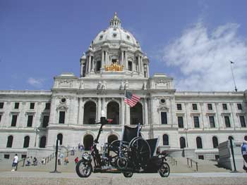 Minnesota State Capitol with new vehicle