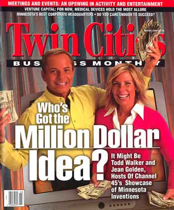 Twin Cities Business Monthly Magazine March 2004 Todd Walker and Jean Golden on cover