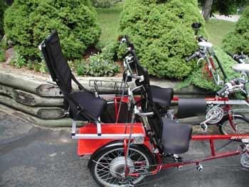 Quadribent recumbent bicycles adult size rumble seat for additional passenger